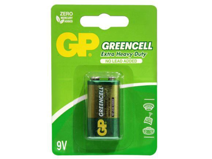 Picture of GP Batteries Greencell - 9v 1 pc.