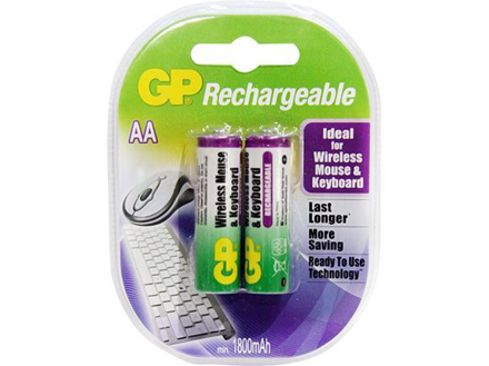 GP Batteries APC Rechargeable - AA 2 pcs. 1800mAh の画像