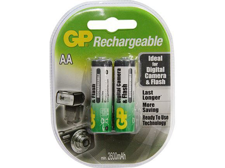Picture of GP Batteries APC Rechargeable - AA 2 pcs. 2600mAh