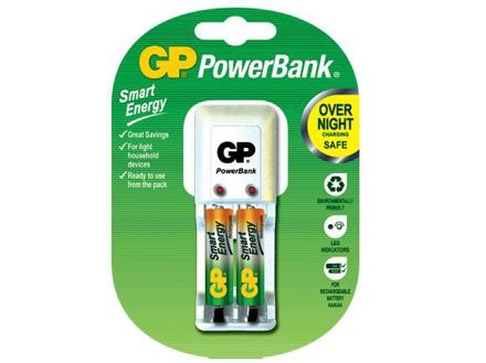 GP Batteries PowerBank Package - AAA 2 pcs. の画像