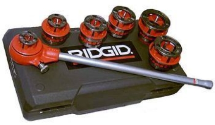 Ridgid Pipe Threader Manual or Machine Set 1/2 - 1의 그림