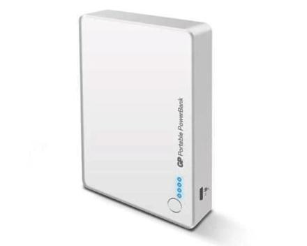GP Batteries DC POWER BANK PORTABLE GP382 WHITE の画像