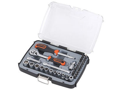Picture of Tactix DR. Socket Set. 37 pcs. 1/4 in.