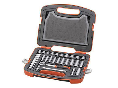 Picture of Tactix DR. Socket Set. 33 pcs. 3/8 in.