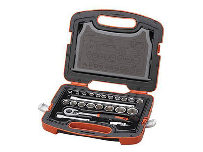Picture of Tactix DR. Socket Set. 23 pcs. 1/2 in.