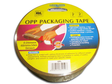 KL & LING Packaging Tape 48MM X 50M Brown, KIOPLBRN の画像