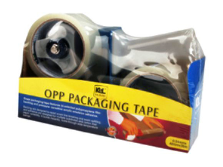KL & LING Int Inc Packaging Tape with Dispenser KI614K/2CBCLR の画像