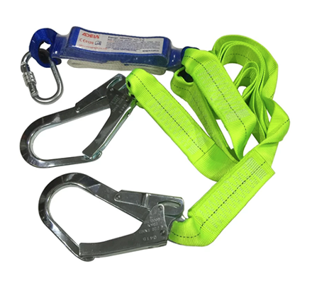 Adela Lanyard with Absorber Double Webbing Lanyard Double Hook - WF32의 그림