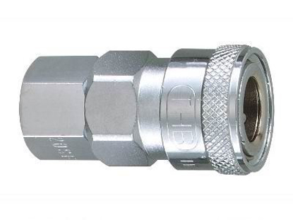 """Picture of THB 1/4"""" Zinc Quick Coupler Body - Female End"""