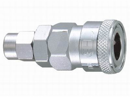 THB 5x8 Steel Quick Coupler Body - PU Hose End の画像