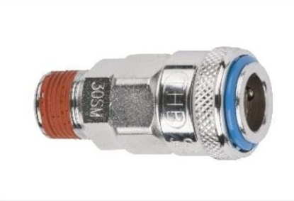 """Picture of THB 3/8"""" One Touch Steel Quick Coupler Body - Male End"""