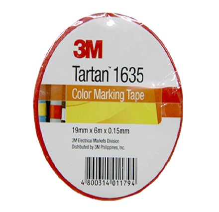 3M Tartan Electrical Tape, Red の画像