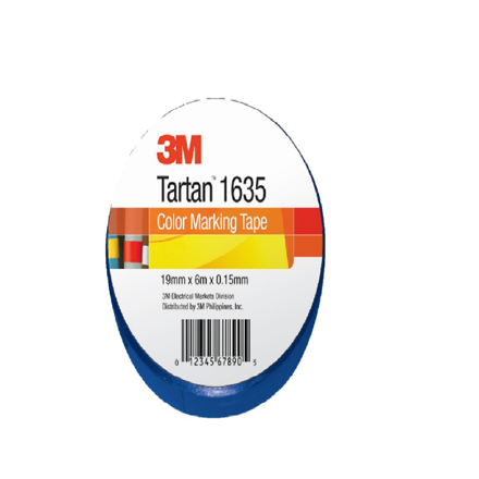 3M TARTAN ELECTRICAL TAPE BLUE 19MM X 6M の画像