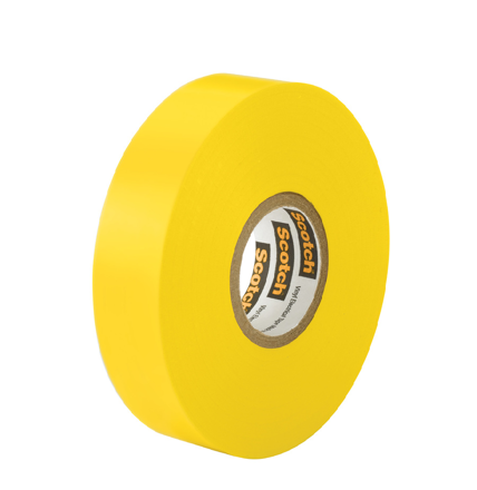 3M TARTAN ELECTRICAL TAPE YELLOW 19MM X 6M の画像