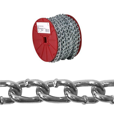 USA Campbell Twist Link Machine Chains - Blu-Krome Finish の画像