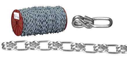 USA Campbell Lock Link - Single Loop Chain - Blu-Krome Finish の画像