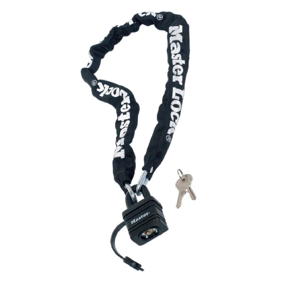 Master Lock Motorcycle Chain Padlock No. 8390DPRO Black (6mm x 90cm length)의 그림