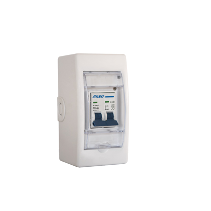 Picture of Royu Mini Safety Breaker with Cover & Outlet DIN Rail Type Flame Retardant Body RMB32C/O