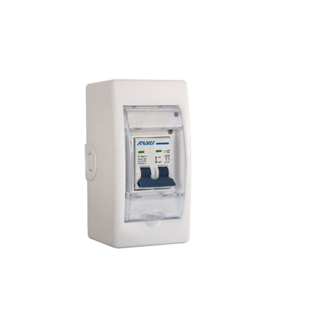 Royu Mini Safety Breaker with Cover & Outlet DIN Rail Type Flame Retardant Body RMB32C/O의 그림