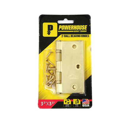 Powerhouse 2- Ball Bearing Hinges  Brass (US3) の画像