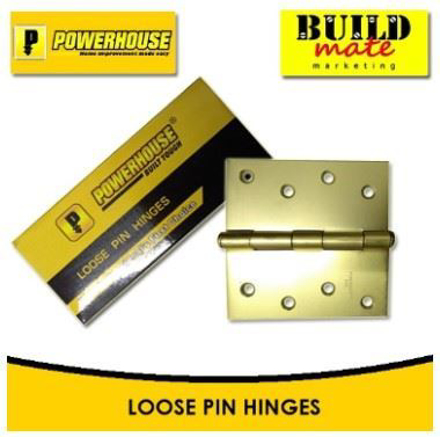 Powerhouse Loose Pin Hinges Brass の画像