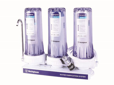 Westinghouse 3 Stage Water Filter, PP + GAC FILTER + CTO, WHWWPS105A3의 그림