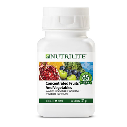 Nutrilite Concentrated Fruits And Vegetables Tablet の画像
