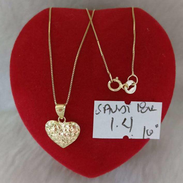 18K - Saudi Gold Jewelry, Necklace w/. Pendant 18K 1.4gram의 그림