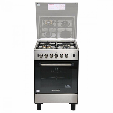 La Germania FS6031 21XTR 60cm range, 3 Gas + 1 Electric Hotplate | Gas Thermostat Oven with Safety Device │ Electric Grill with Rotisserie の画像