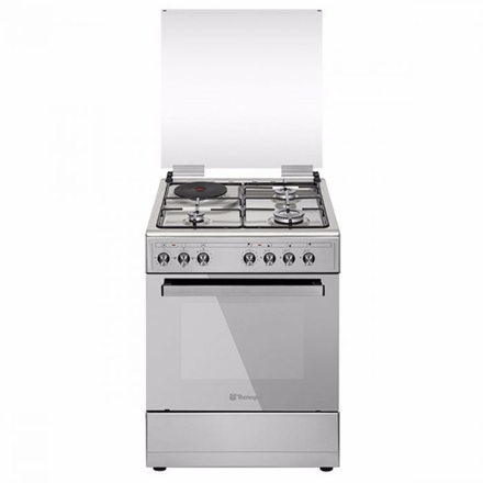 Tecnogas TFG6031DRX 60CM Range, 3 Gas Burners + 1 Electric Plate | Gas Oven + Electric Grill | Rotisserie의 그림