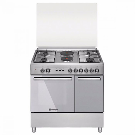 Tecnogas TFG9142CRX 90cm range, 4 Gas Burners + 2 Fast Heating Electric Plates │ Gas Oven + Gas Grill │ Rotisserie の画像