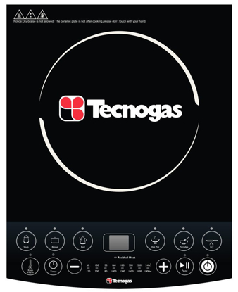 Picture of Tecnogas TIC3081BL Induction Cooker | Order Basis