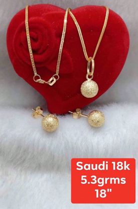 Picture of 18K Saudi Gold Jewelry Set 18K - 5.3g