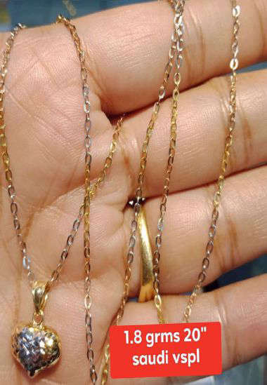 18K - Saudi Gold Jewelry, Necklace w/. Pendant 18K - 1.8g의 그림