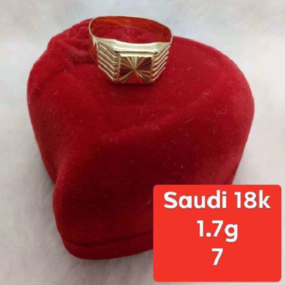 Picture of Saudi Gold Ring 18K - 1.7g_7