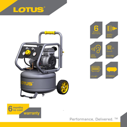 Lotus Air Compressor 8G 1.5HP LTVC3000S の画像
