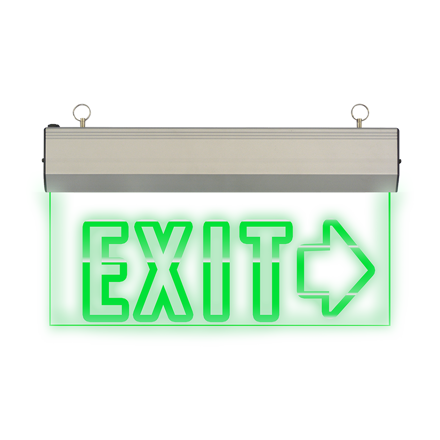 Exit Sign Right  Arrow (Acrylic) LED/X-200/R の画像
