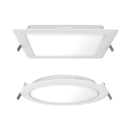 LED Slim Downlight Ecomax - LEDDownlightRc-ESII-R100-6W-WH-NV の画像