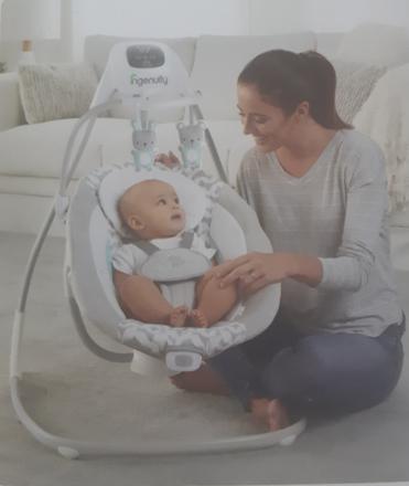 Simplecomfort Cradling Swing, baby sleep swing bed の画像