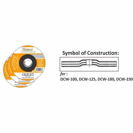 Grinding Discs For Metal Type 27 DCW-100 の画像