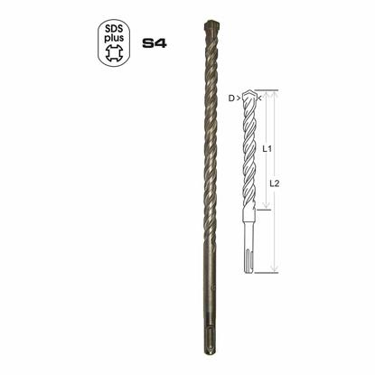 Picture of SDS Plus Concrete Drill Bits (New Head) SDSP-040110