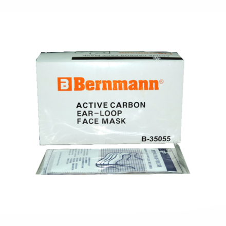 4-Ply Latex-Free Active Carbon Face Mask 50 Pieces Per Box B-35055의 그림