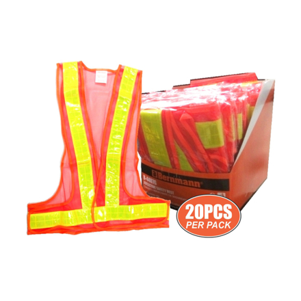 Reflective Safety Vest 20 Pieces Per Pack B-4407G の画像