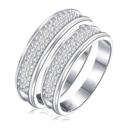 Picture of 925 Silver, Couple Ring- CS-037
