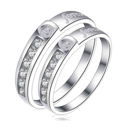 Picture of 925 Silver, Couple Ring- CS-049