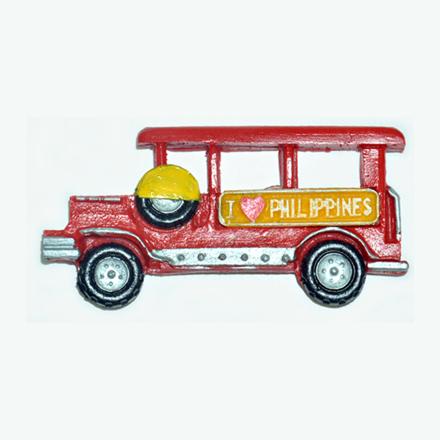 Jeepney Ref Magnet, Philippine Jeepney Souvenir의 그림