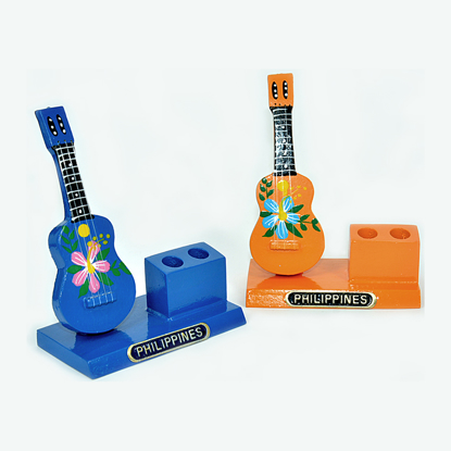 Picture of Wooden Guitar Pen Holder- 0072-0256