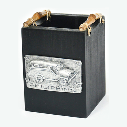 Pen Holder Box with Jeepney- 0137-0638 の画像