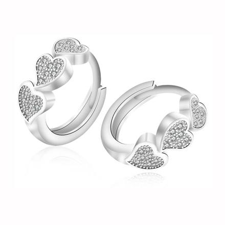 925 Silver Jewelry,Clip Earrings- ER-519 の画像