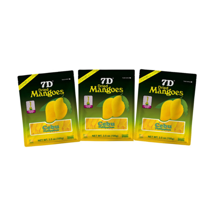 7D Dried Mangoes (100g) ,Cebu Dry mangoes,Pack of 3 の画像